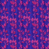seamless_pattern_of_pink_leaves_on_pink_branches_and_blue_background