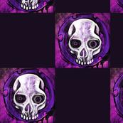 Purple Checkered Skull