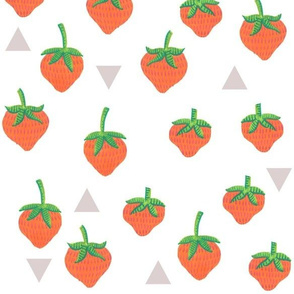 Strawberries + Triangles