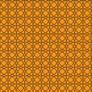 circles brown on orange