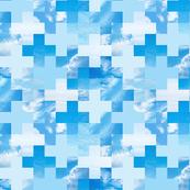 Sky Grid + sky blue