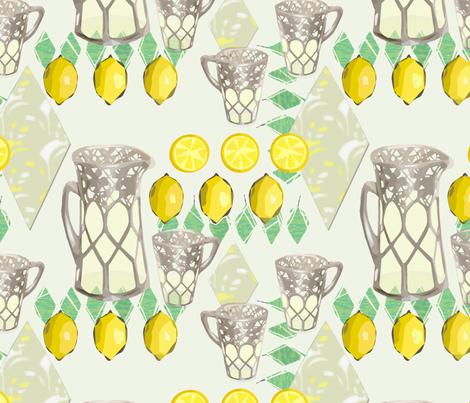 Lemonade in Silver Pitcher