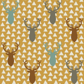 Deer_Heads_on_Triangles_Fall