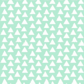 White and Mint Triangles