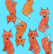 Colored Pencil Foxes