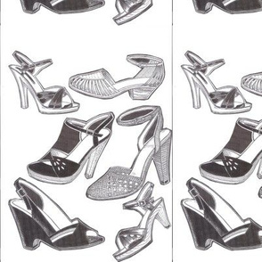 Medium shoes in black and white.