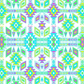 Teal Aztec Design