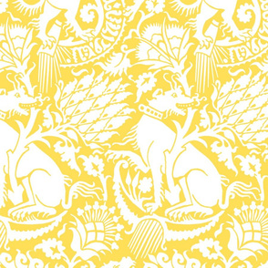 Renaissance Damask in Citrine