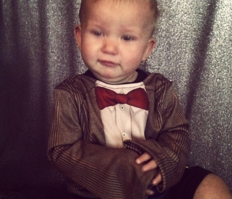 tweed suit with bow tie 18 month baby bodysuit