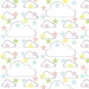 Cloud Stars - pastels