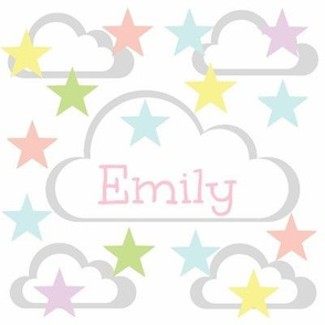 Cloud Stars - pastels personalized