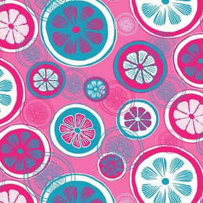 Pink Lemons Abstract