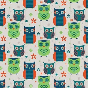 Owl Creek Kitchen Retro Owls Small
