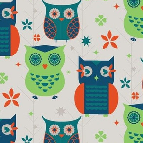 Owl Creek Kitchen Retro Owls Large