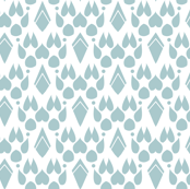 Fox Footprint Damask - Blue on White