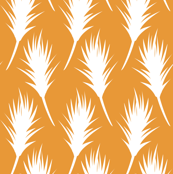 Foxtail - White on Pumpkin Orange