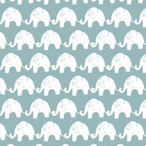 Elephant Stories Stripes on Blue