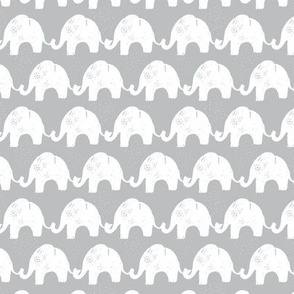 Elephant Stories Stripes on Grey