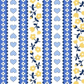 calico stripe blue