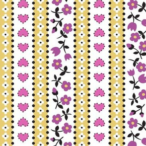 calico stripe purple
