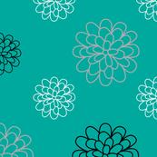 Floral Series Teal