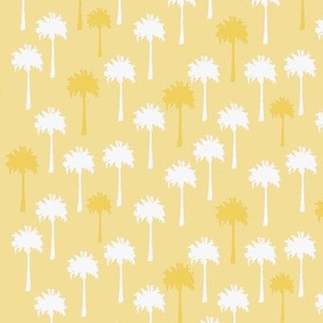 Yellow & White Palm Trees on Yellow