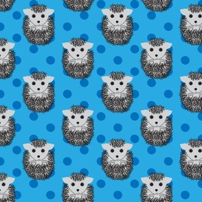 Hedgehogs and Blue Polka Dots
