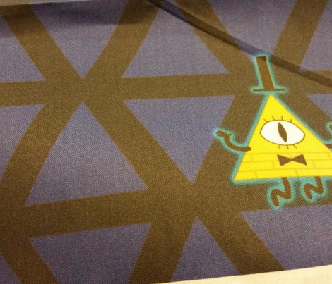 Blue Pyramid bill Fabric
