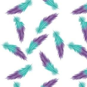 Flight of Fancy - teal and purple