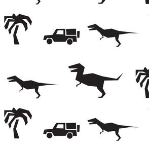 Dino, B&W