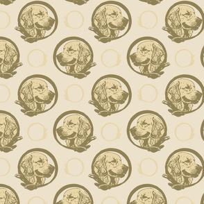 Collared Golden Retriever portraits - tan