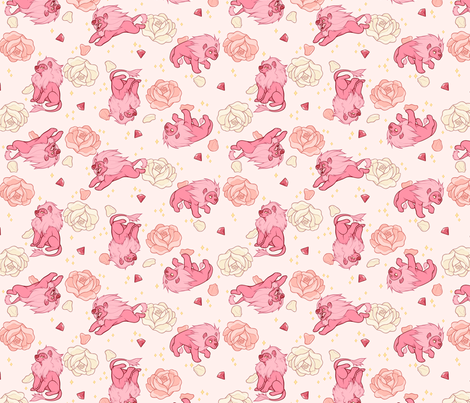 Steven universe lion fabric lydiapaige spoonflower for Universe fabric