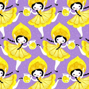 lemon girls in purple