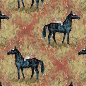 Black Horse and Kitties