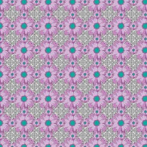 Small Purple Flower Power Optical Illusion