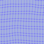 wonky periwinkle plaid med