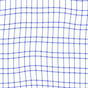 wonky periwinkle plaid - light