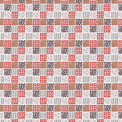 Red Berry Abstract Squares Small