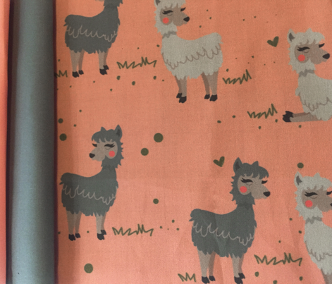 Llamas in Love Pattern Flat Color