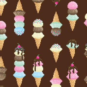 Pixel Ice Cream - Chocolate