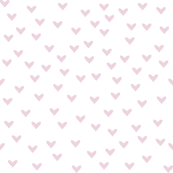 Little Baby Pink Hearts on White