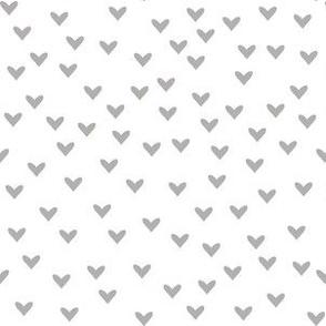 Little Slate Hearts on White