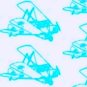 Vintage Plane  - fluorescent blue_