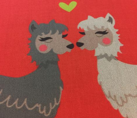Llamas deep in love