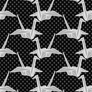 Paper Crane - Black