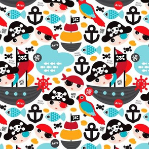 Pirate ship and parrot saling boat adventure theme for boys Small
