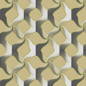 Sworl (Taupe and Green)