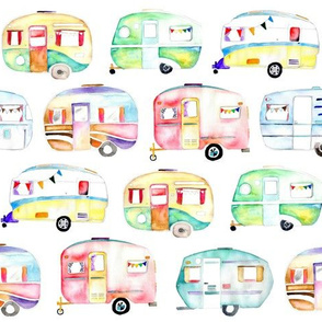 Watercolour Caravans