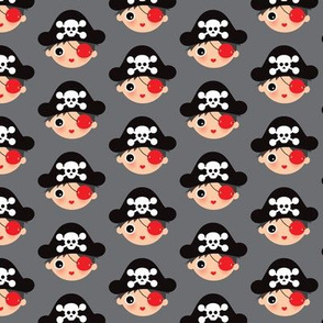 Cute pirates skulls illustration boys illustration print