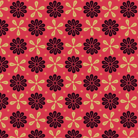 Peoria Re - Flowers (Red)
